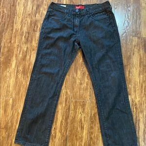 Guess Men's Straight Slim Del Mar Fit Black Jeans